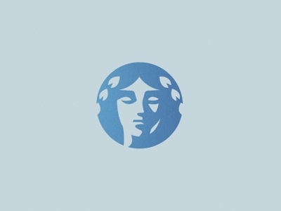 Goddess | Unused Concept profile foil texture shadows crest woman female goddess greek face simple brand branding logo design