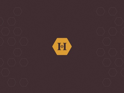 Dr. Honeymom® | Brand Identity wordmark mark word hive honey comb dr personal author health doctor mom honey hexagon bold minimal simple brand branding logo design