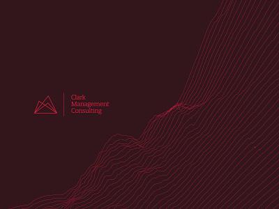 Clark Management Consulting | Brand Identity technology tech consultant consulting messaging brand guide guide pattern texture geo mountian bold minimal logo design simple brand branding logo design