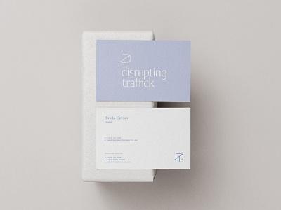 Disrupting Traffick | Unused tear paper collage texture t d advocates advocate humans human traffick disrupting disrupt minimal logo design simple brand branding logo design