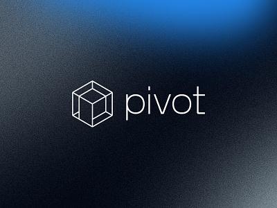 Pivot | Unused texture gradient healthcare health technology tech accurate precision machining machine cube p minimal logo design simple brand branding logo design