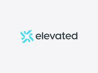Elevated Processing | Brand Identity workflow flow work banking bank processing process loan team task check mark check bold minimal logo design simple brand branding logo design