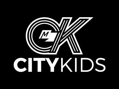City Kids Logo branding design black and white church flag youth ministry logo
