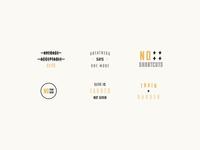 Fitness Typography Badges