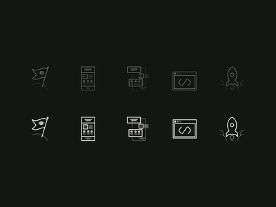 Web Process Icons