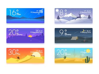 weather widget sunshine snow rain tent desert color widget weather