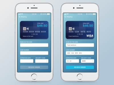 Credit card checkout - Daily UI Challenge