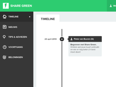Share Green Dashboard
