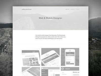 Portfolio Redesign portfolio redesign flat simple website personal clean landingpage sketch