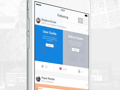Dribbble Client dribbble client iphone ios8 interface simple api
