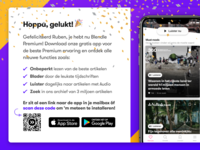 Download app dialog 🎉 audio iphone features qr download articles welcome news journalism blendle ux  ui ux android ios confetti popup modal dialog app