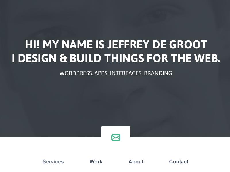 New Portfolio Design portfolio webdesign redesign new flat soft personal