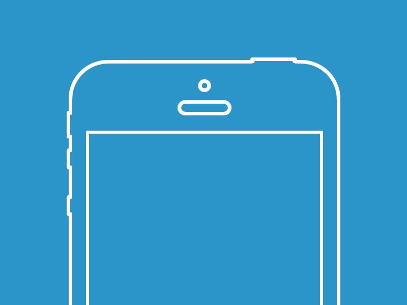 Vector iPhone 5 Wireframe Freebie by Jeffrey de Groot - Dribbble
