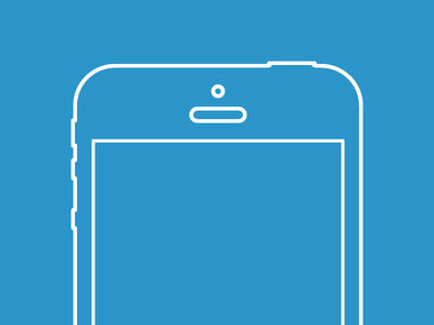 Vector iPhone 5 Wireframe Freebie