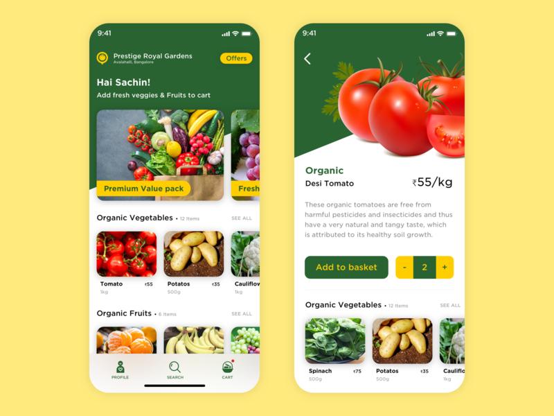 Organic veggie App