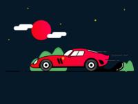 Ferrari car Icon Illustration