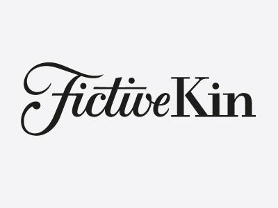 Fictive Kin Logotype  logo logotype hand-lettered custom custom lettering lettering identity fictive kin fictive kin script serif