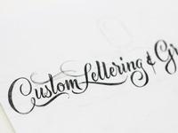 Custom Lettering - Sketch