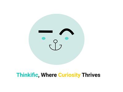 Thinkific, 2D Illustration agency logo ui illustration icon design business branding app