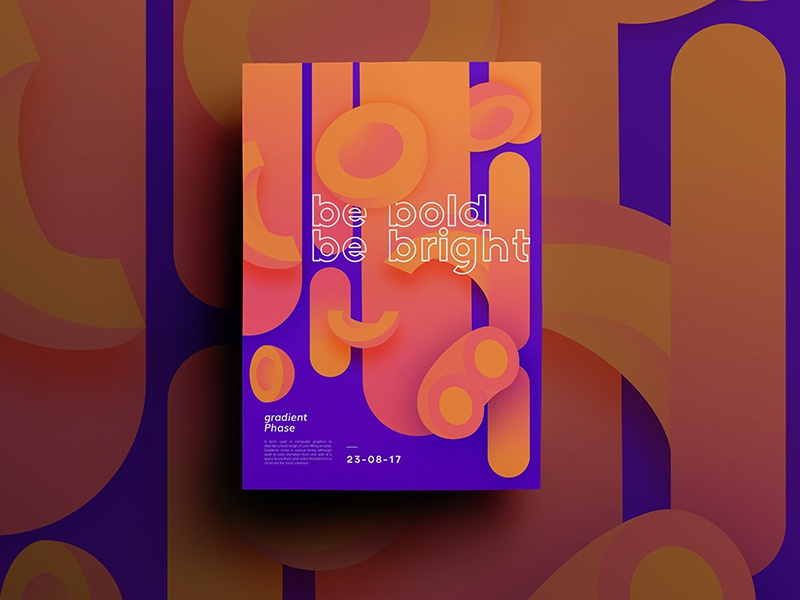 Be Bright Poster Series color gradient poster