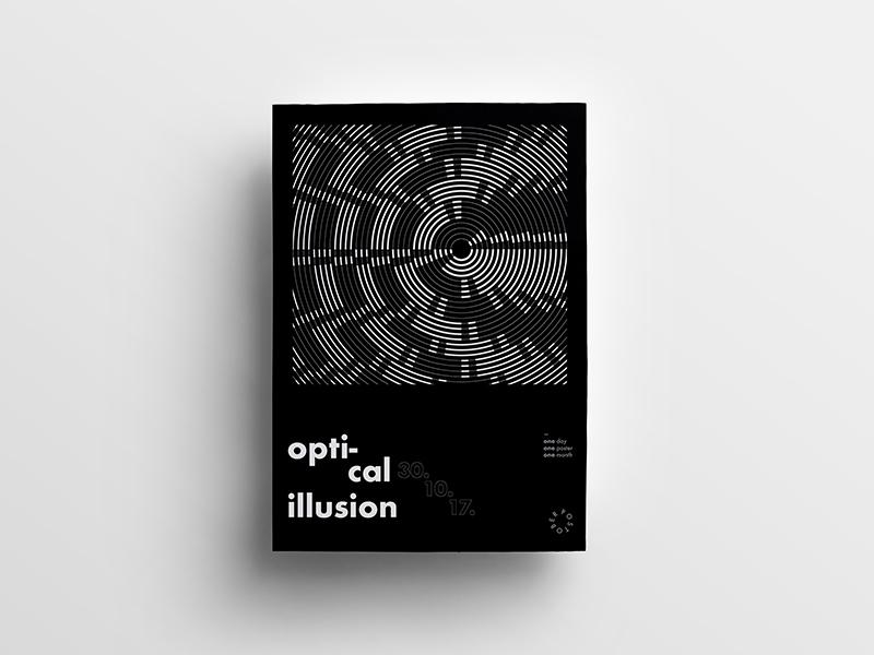 Postober Poster Series graphic optic illusion poster