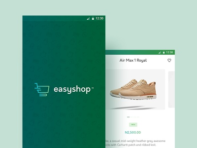 EasyShop ecommerce app design ux ui