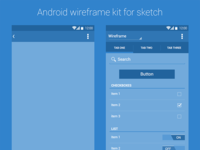 Android Wireframe Kit (.sketch)