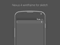 Nexus 4 Wireframe for .Sketch
