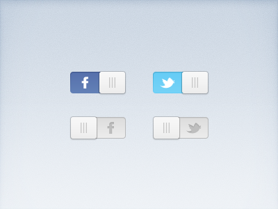 Social Switches (Freebie) social switch twitter facebook button