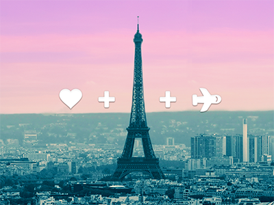 Love + Travel travel icon eiffel tower simple