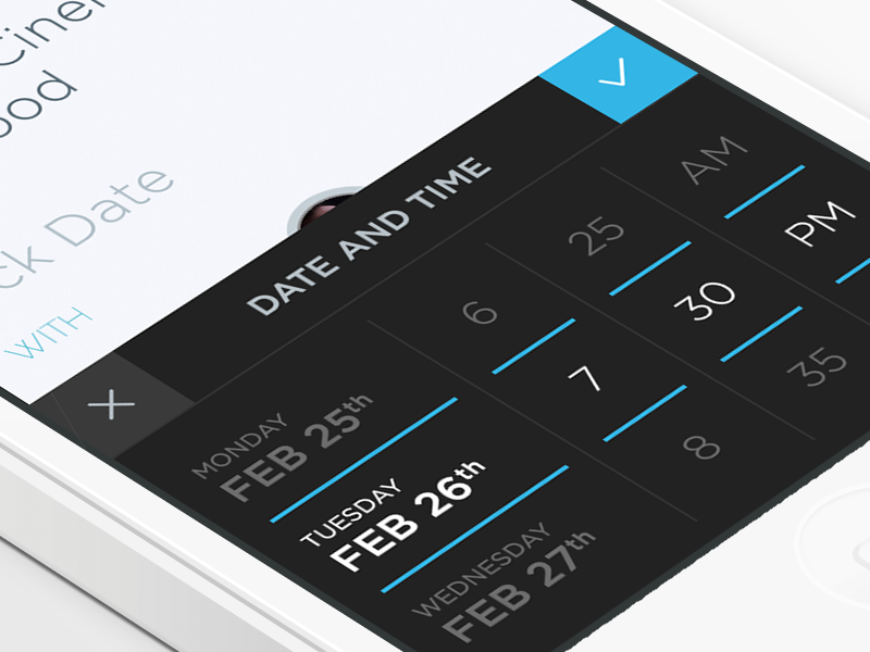 Date Picker iphone clean white app ios date picker blue