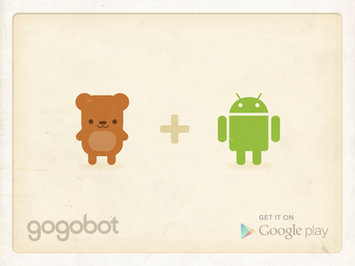 Gogodroid gogobot android bear illustration cute