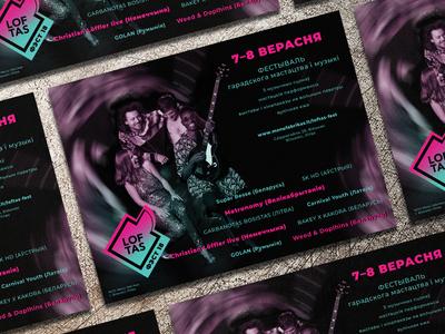 Brochure design for music festival