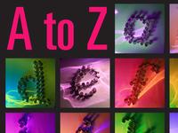 """A to Z Disco"" Poster"