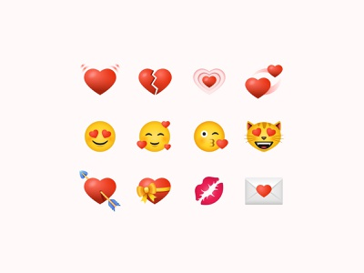 Valentine's Day Color Icons flat icons icons set color icons emoji romantic icon design icons pack icons illustrator digital art web design design tools vector art illustration flat design design graphic design love st valentines valentines day