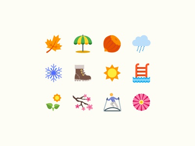 Color Icons: Seasons