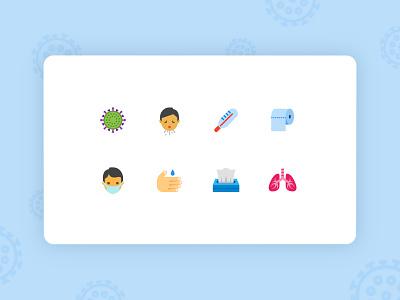 Freebie: Coronavirus Icons icon design icon sets medical care coronavirus healthcare svg icons freebie free icons icon set icons digital art ui web design ux vector art design tools illustration flat design graphic design design