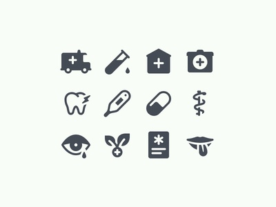 iOS Glyph Medical Icons