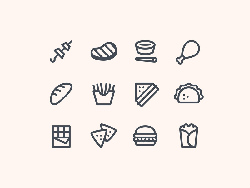 Simple Small Food Icons