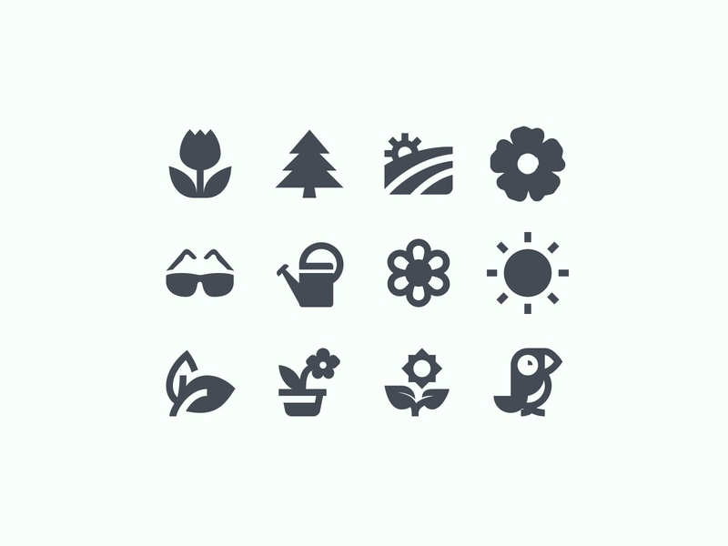 Spring Material Filled Icons icon set graphics nature icon design icon pack icons set icons design android spring user experience icons filled icons material design ui ux vector art design tools flat design graphic design design