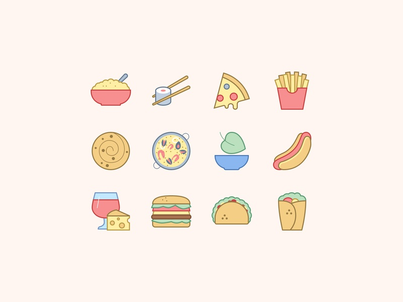 Food Icons in Office Style
