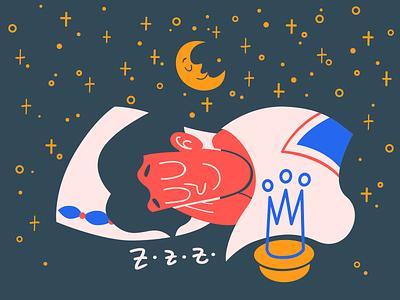 Log Out Illustration kingdom relax sleep night interface illustration vector illustration illustration art user experience design design art illustrator ui ux web design digital art illustration vector art design tools flat design graphic design design