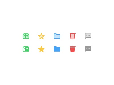 Material icons comment trash bin folder star mailbox materialdesign icons icons8 vector graphic design design