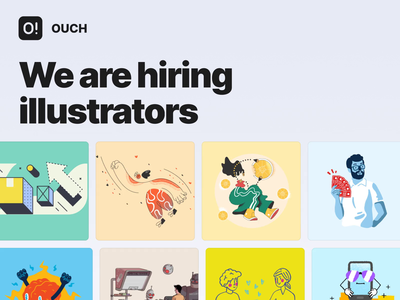 We are hiring! interface illustrations design hiring icons8 illustration graphic design