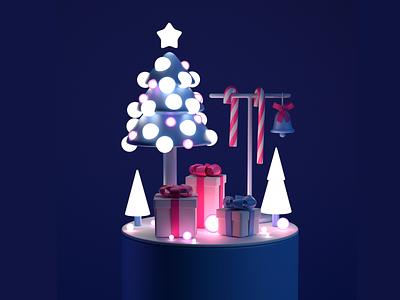 3d Christmas christmas tree miracle holiday candy santa pine tree gift illustration 3d christmas
