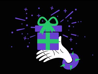 Christmas Present newsletter new year christmas gift christmas web design digital art ui vector art illustration graphic design