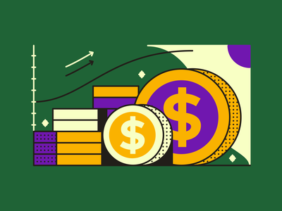 Money, money, money. illustration vector flat design vector art graphic design