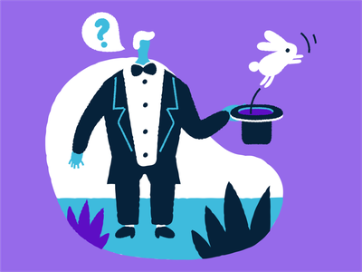 Magic trick interface illustration flat design vector digital art illustration vector art graphic design