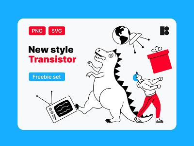 Transistor free illustrations illustrator png web design svg vector giveaway freebie free design illustration vector art