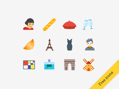 Free French icons freebie french icons